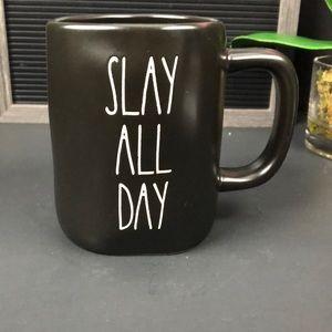NEW Rae Dunn SLAY ALL DAY black mug